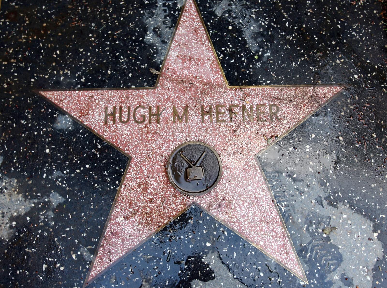 Hefner har sin egen stjerne på Hollywood Walk of Fame.