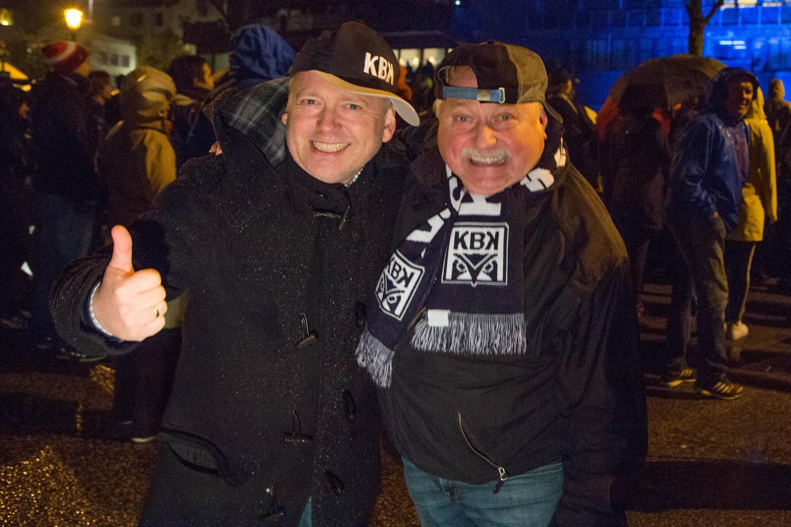 Desse er frå showgruppa Hønvikbrødrene. F.v Bjørn Otto Strømme og Dagfinn Larsen.