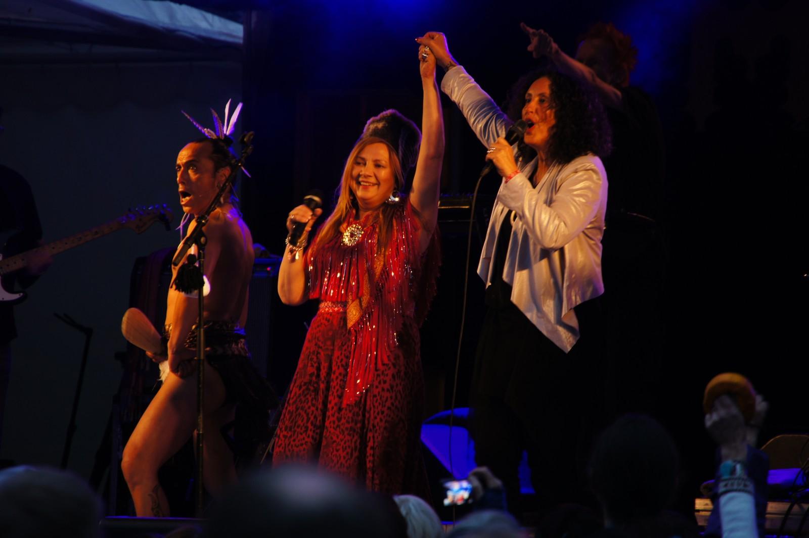 Fra Boines konsert på Riddu Riđđu-festivalen i Kåfjord i Nord-Troms i juli 2013.