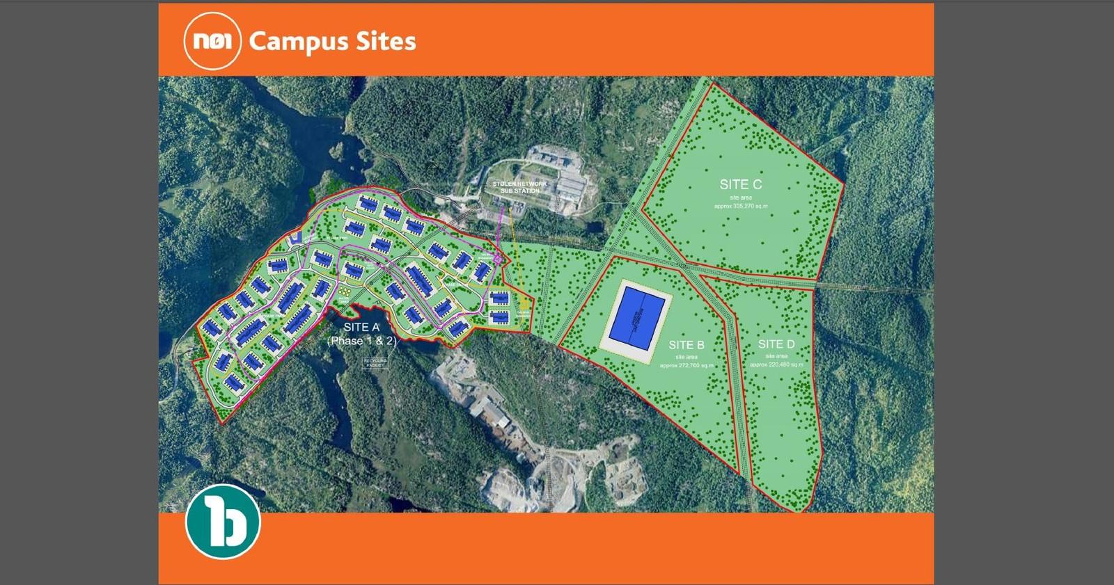 Hele området kan bli bestående av rundt 20 bygg.