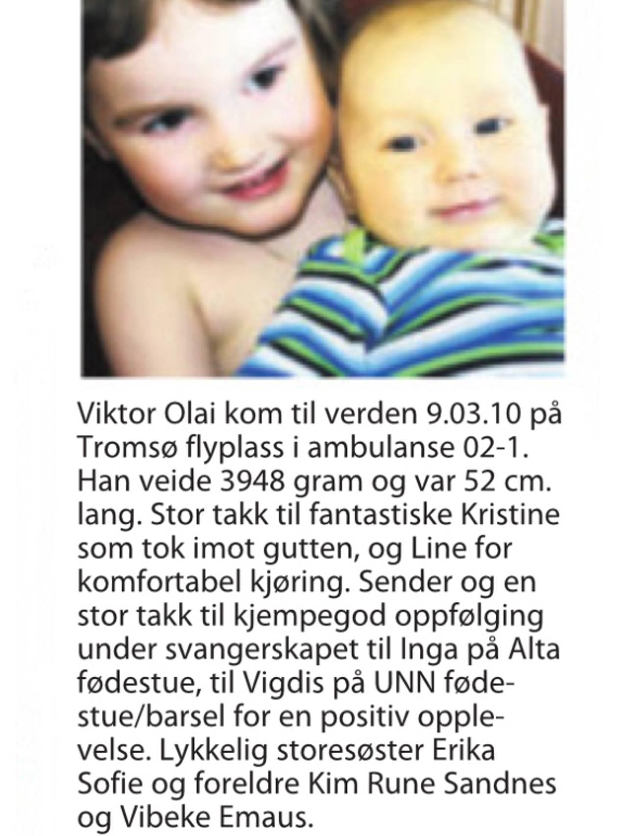 Avisutklipp Vibeke Emaus og Kim Rune Sandnes