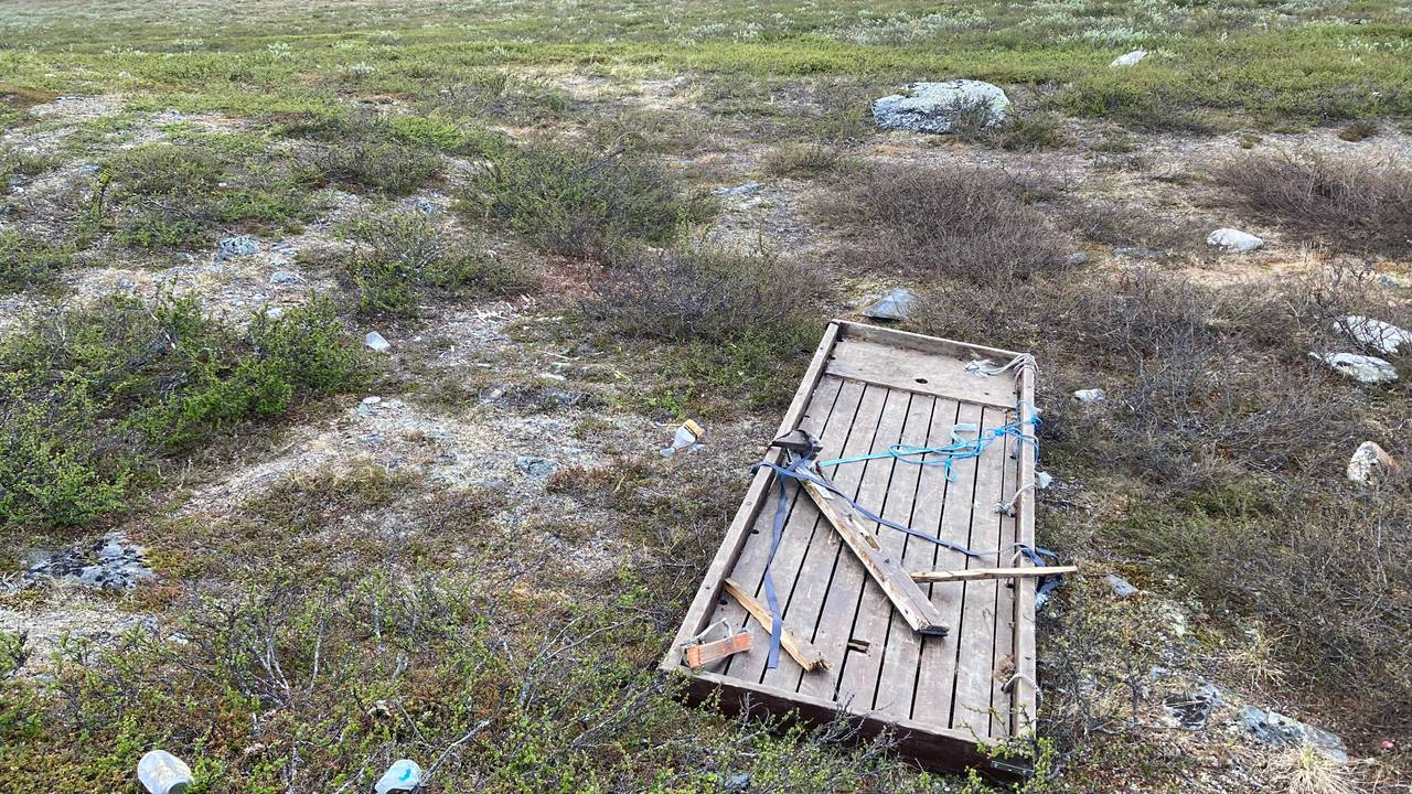 Forsøpling ved Goccesjávri i Nordreisa kommune
