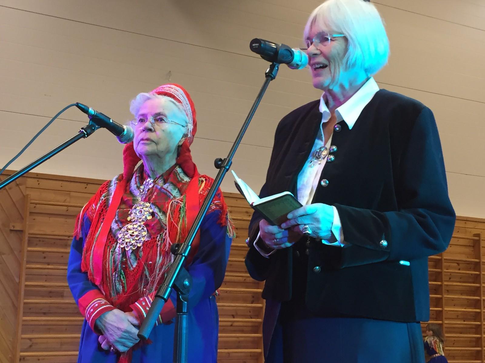 Leder for Unesco-kommisjonen i Norge, Tora Aasland, holdt tale under dagens feiring i Kautokeino.