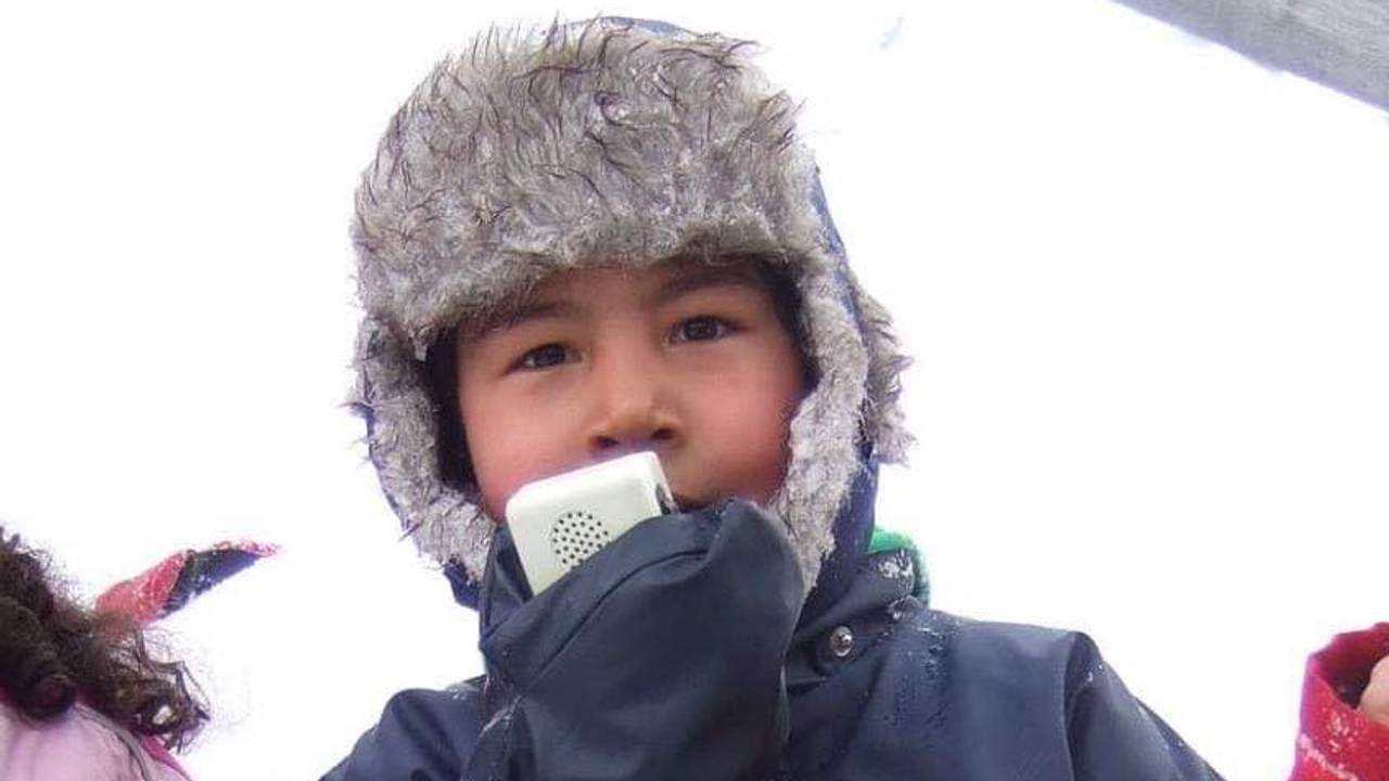 Nasir Ahmad på skidag