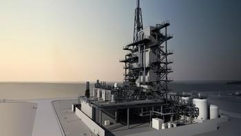 Modell av CO2-fangstanlegget Mongstad