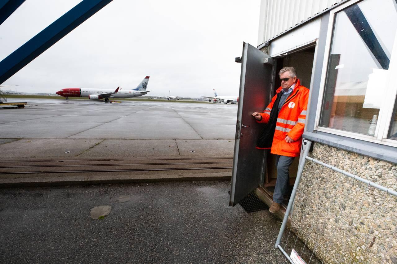 Leidulf Heskje sin hangar på Stavanger lufthamn Sola