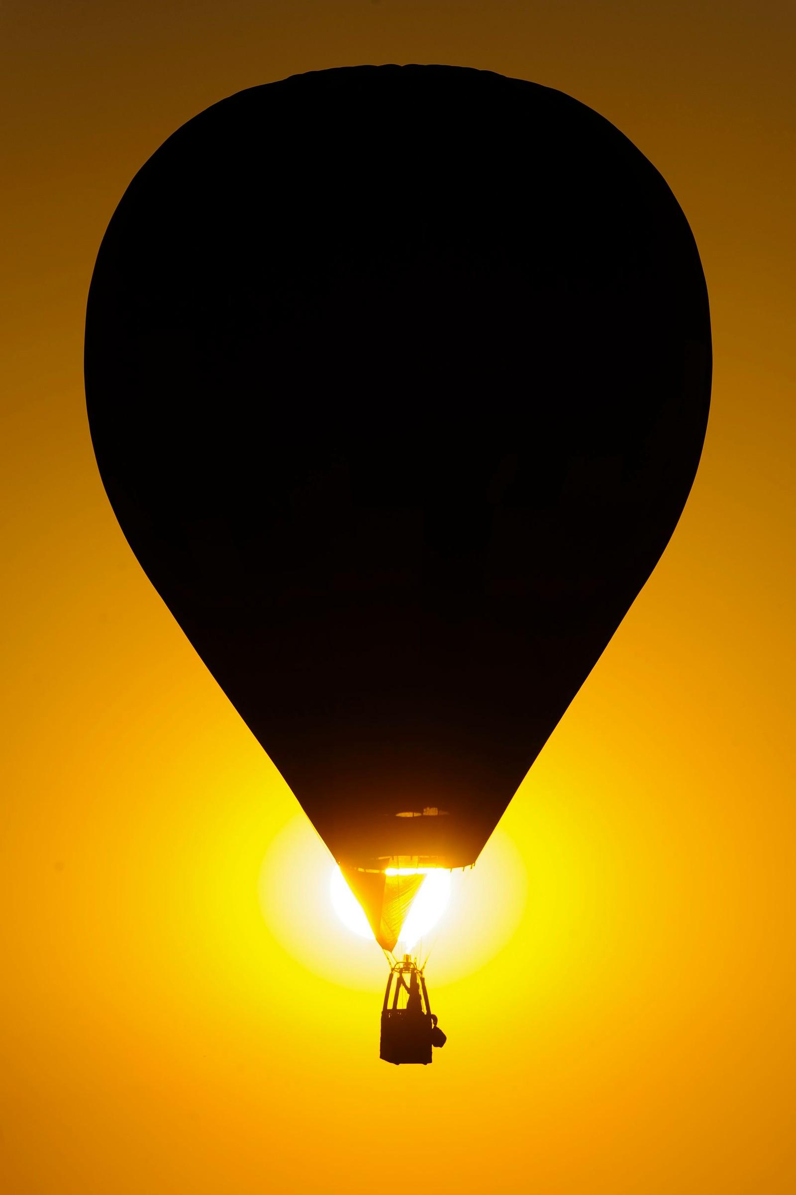 En luftballong i solnedgang deltok denne uka i Europamesterskapet, som ble arrangert i Budapest, Ungarn.