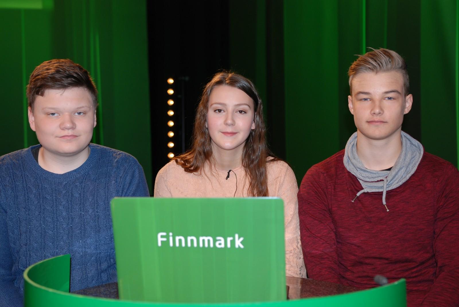 FINNMARK: Kjøllefjord representert ved Peter Wik, Elias Weie og Anna Julie Wallenius.