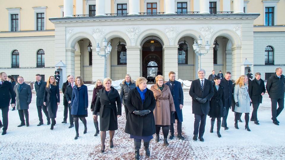 Direkte fra Slottsplassen - den nye regjeringen