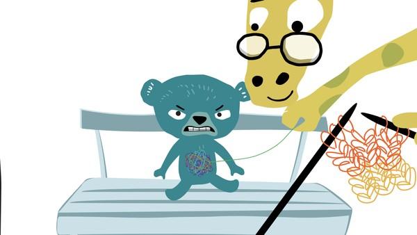 Sommerfugler i magen er en animasjonsfilm om bamsen Alex som har en klump i magen og trenger å snakke med den kloke sjiraffen.