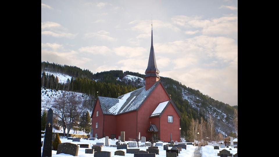 Gudstjeneste fra Meldal kirke