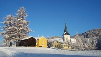 Vinter ved Selbu kirke