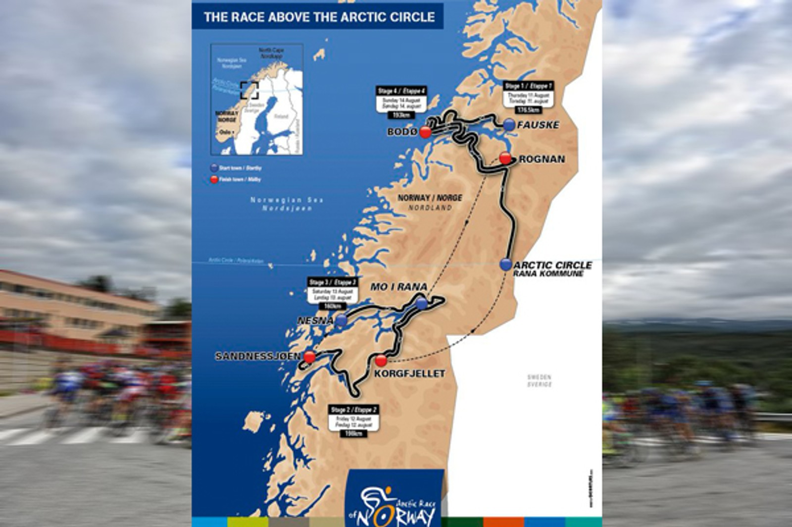 Årets Arctic Race skal innom 12 kommuner, hvorav ni kommuner på Helgeland.