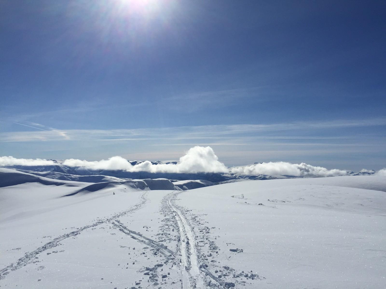På Steinegga 1097 moh, ovanfor Harpefossen skitrekk.