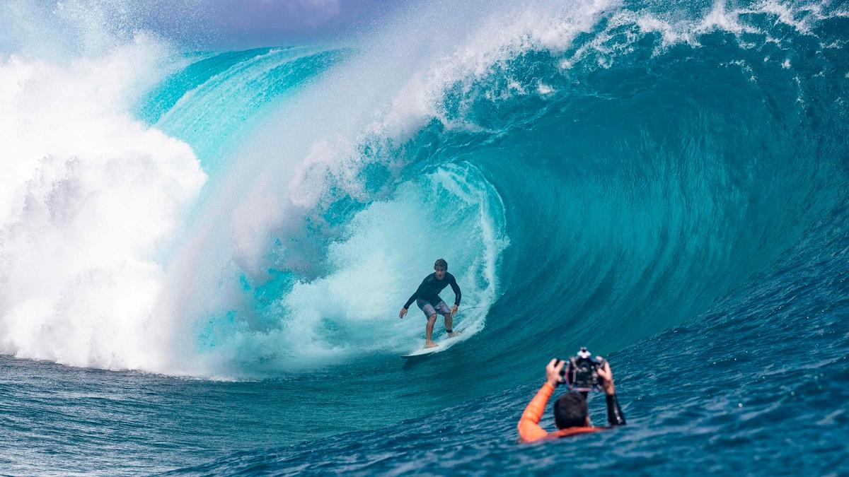 OL-surfing på Tahiti