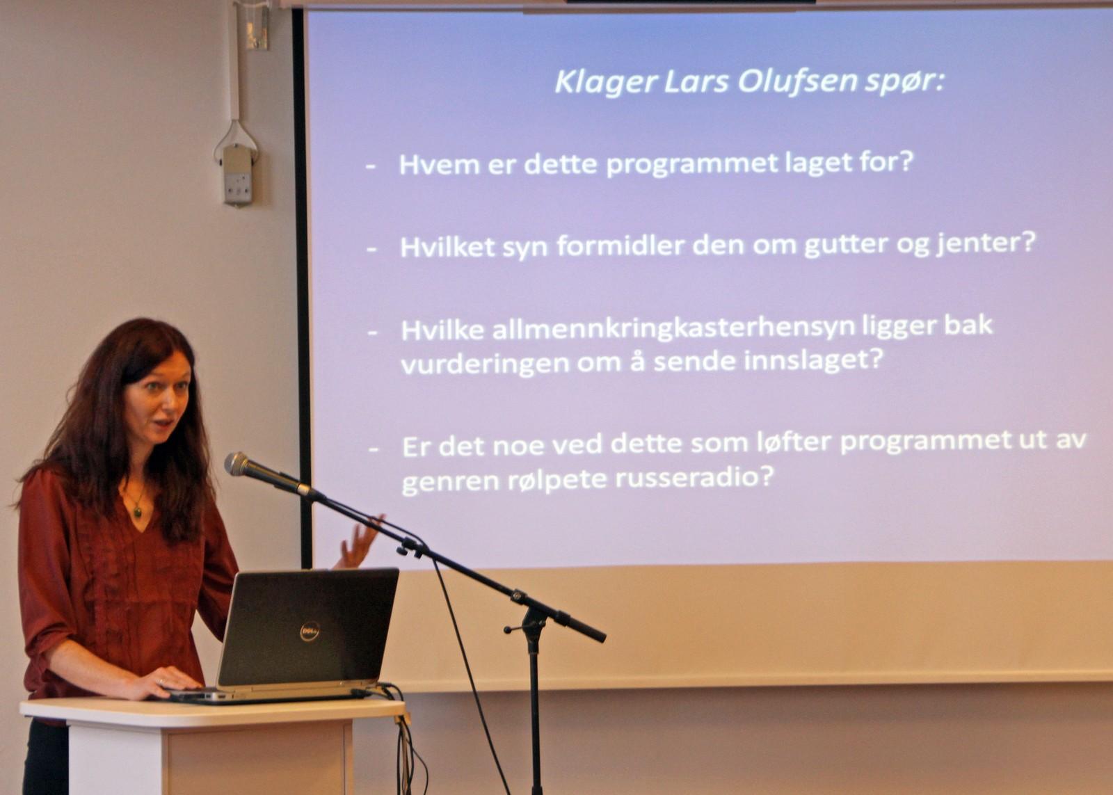 Nestleder i rådet, Kjersti Torbjørnsrud, tar for seg klagen Lars Olufsen har sendt rådet.