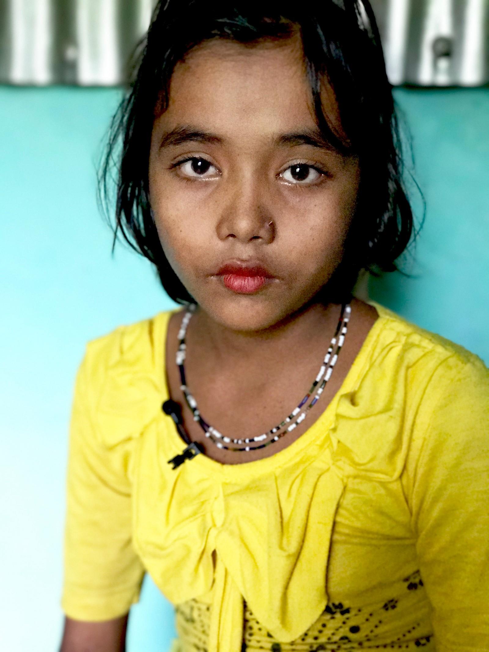Nur Fatema flyktet fra landsbyen hun bodde i, da foreldrene var blitt drept.