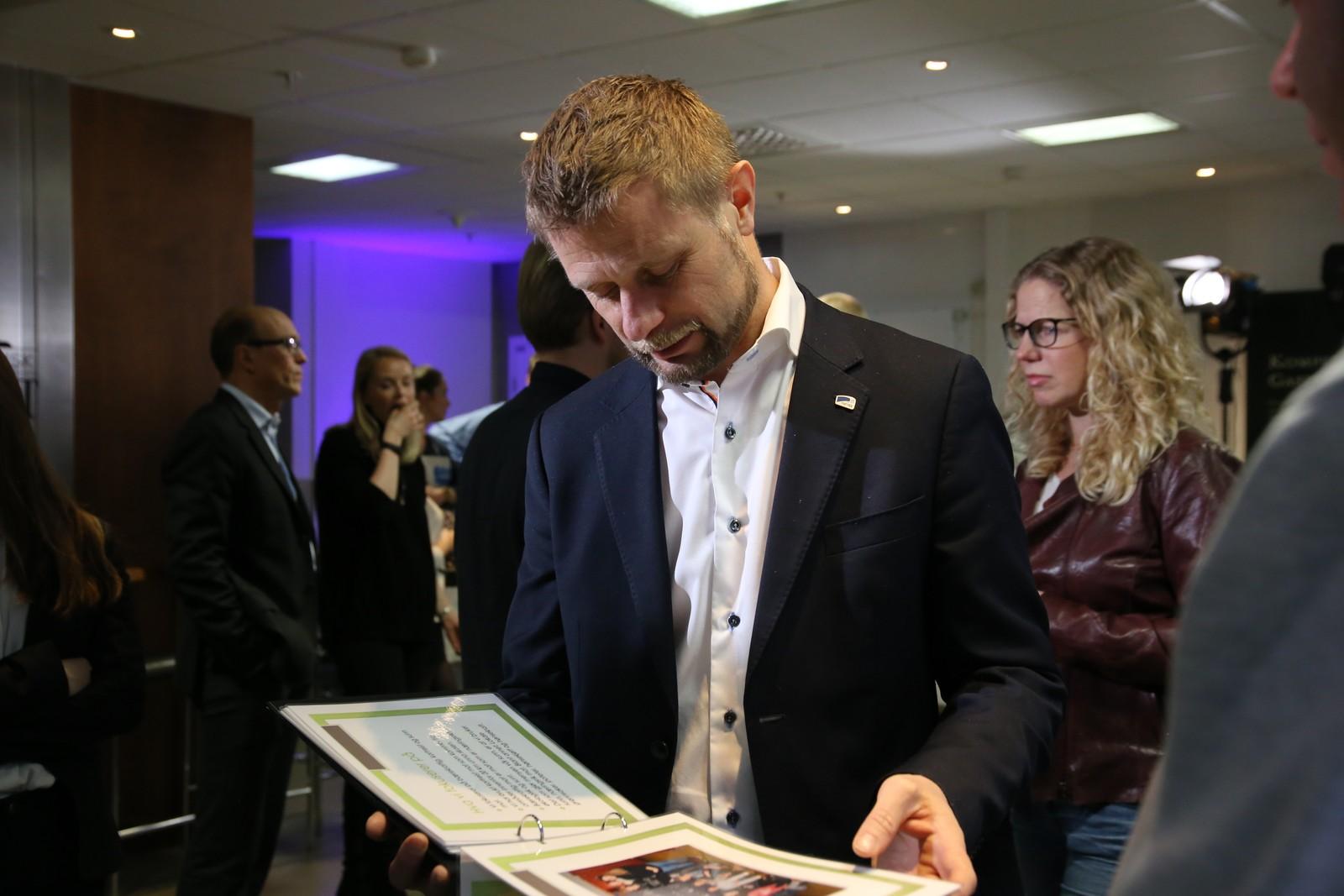 Helse- og omsorgsminister Bent Høie (H) var til stede i Måltidets hus fredag.