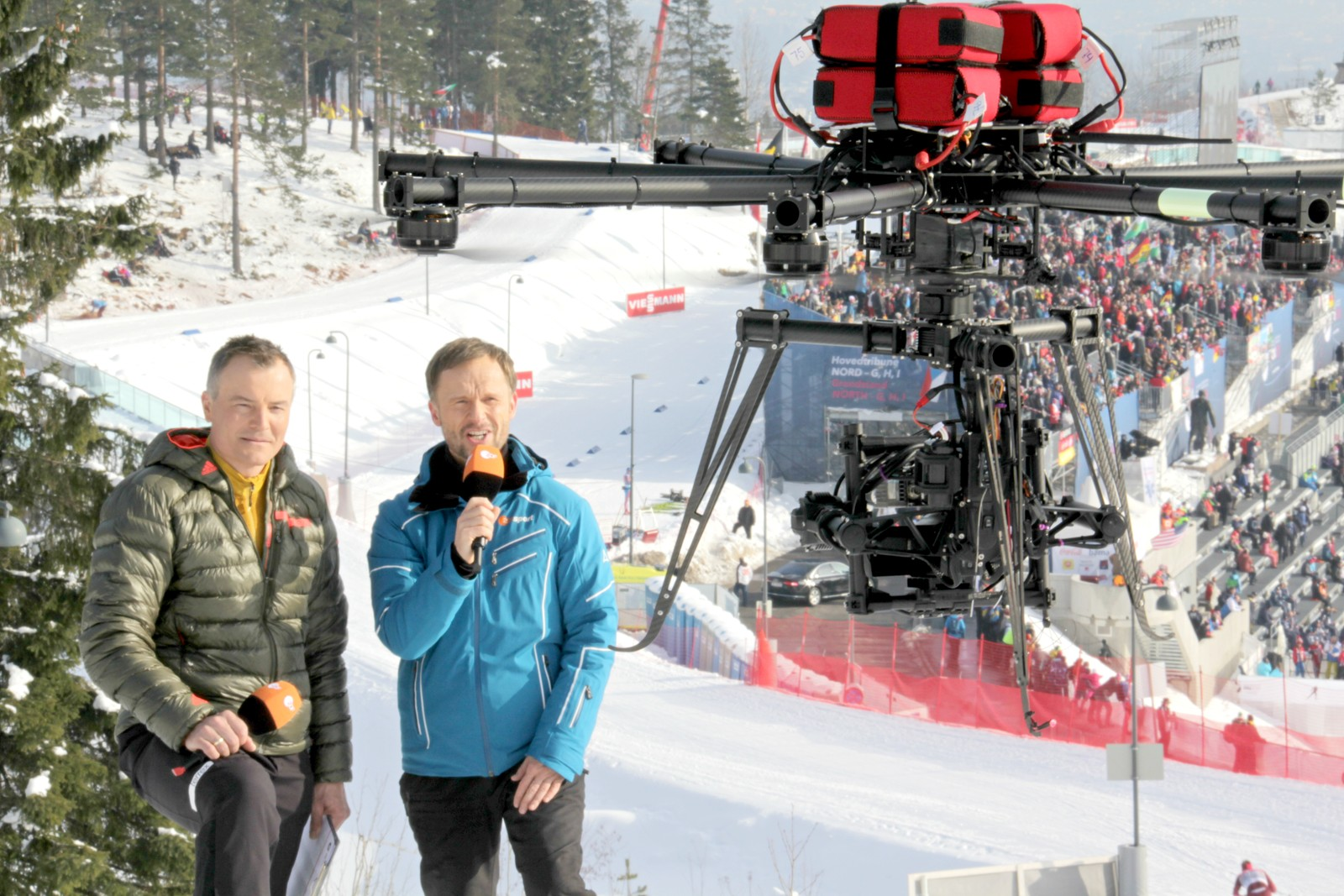 The NRK Host Broadcaster drone crew did an assignment for German TV.