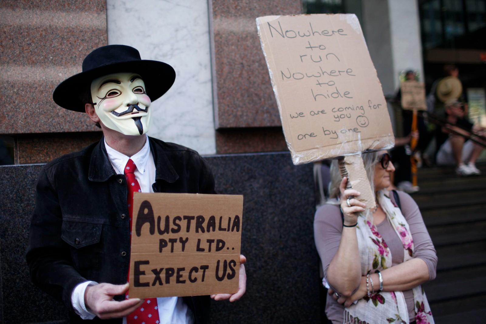 Occupy Sydney-demonstrasjon i Australia.