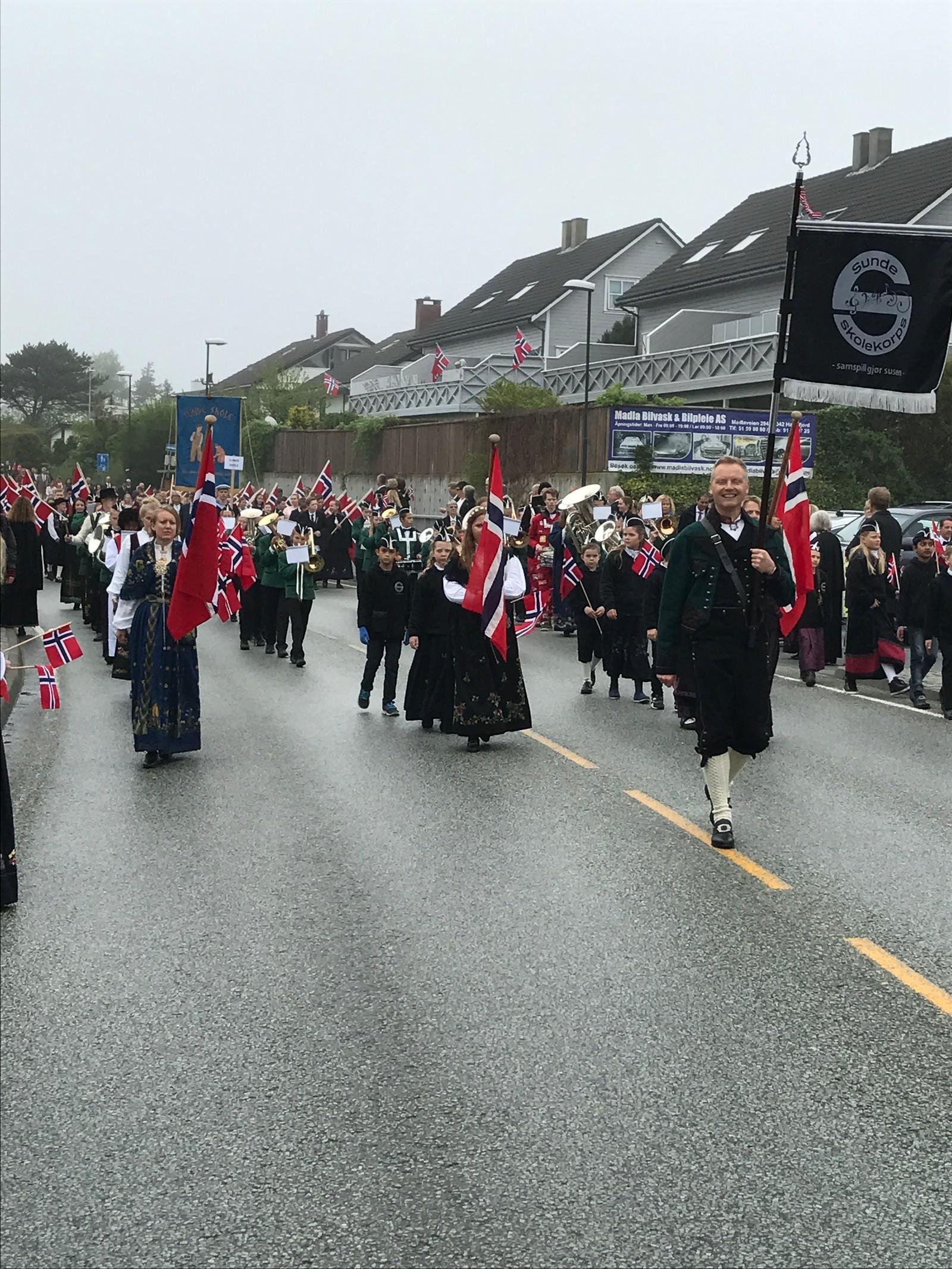 Sunde skolekorps på Madla i Stavanger.