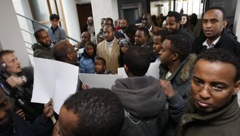 somaliere demonstrerer