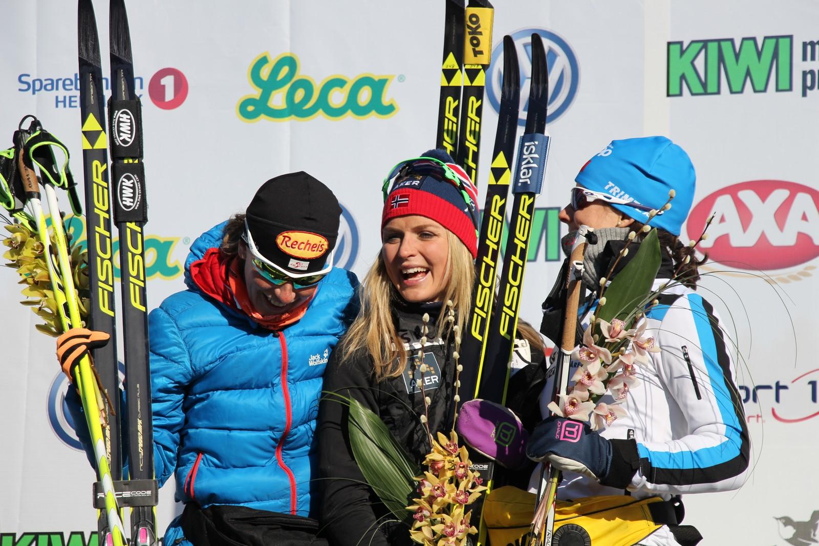 Therese Johaug vant kvinneklassen og satte ny løyperekord.