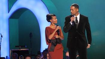 Jada Picket Smith og Will Smith på Nobelkonserten.