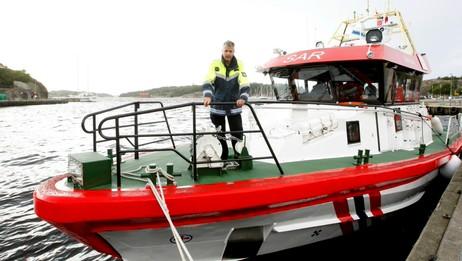 Pål Bustgaard på redningsskøyta Horn Flyer (Foto: Holm, Morten/SCANPIX)