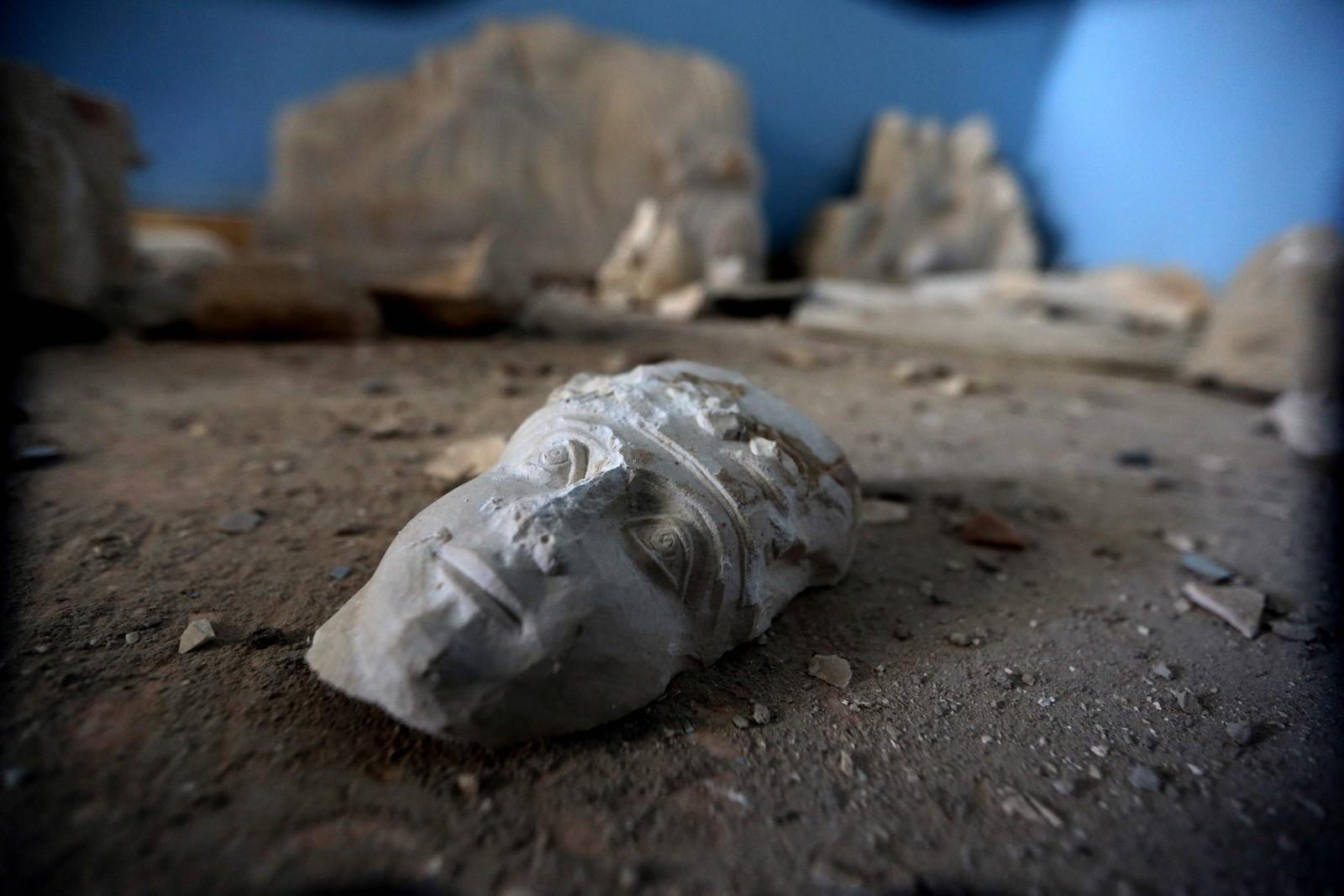 Palmyra har arkeologiske skatter fra gresk, romersk og persisk påvirkning. Her fra byens museum.