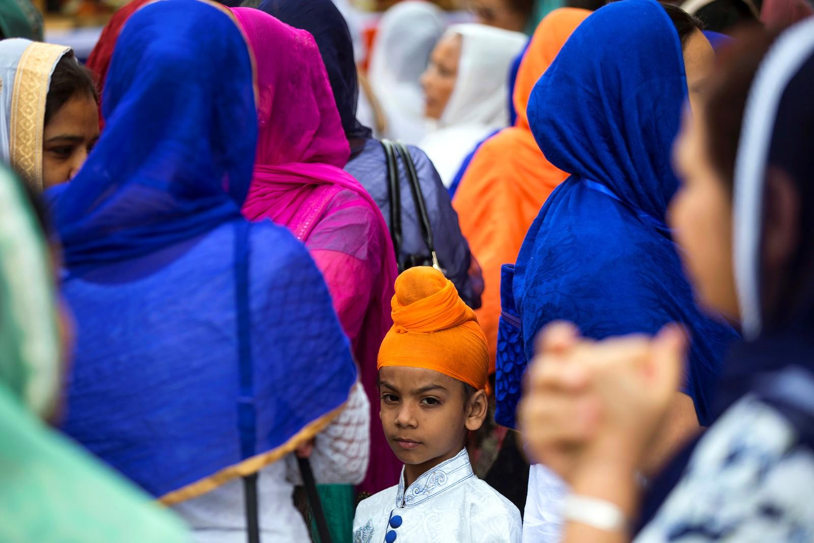 Sikher er samlet på et arrangement i Nairobi i Kenya.