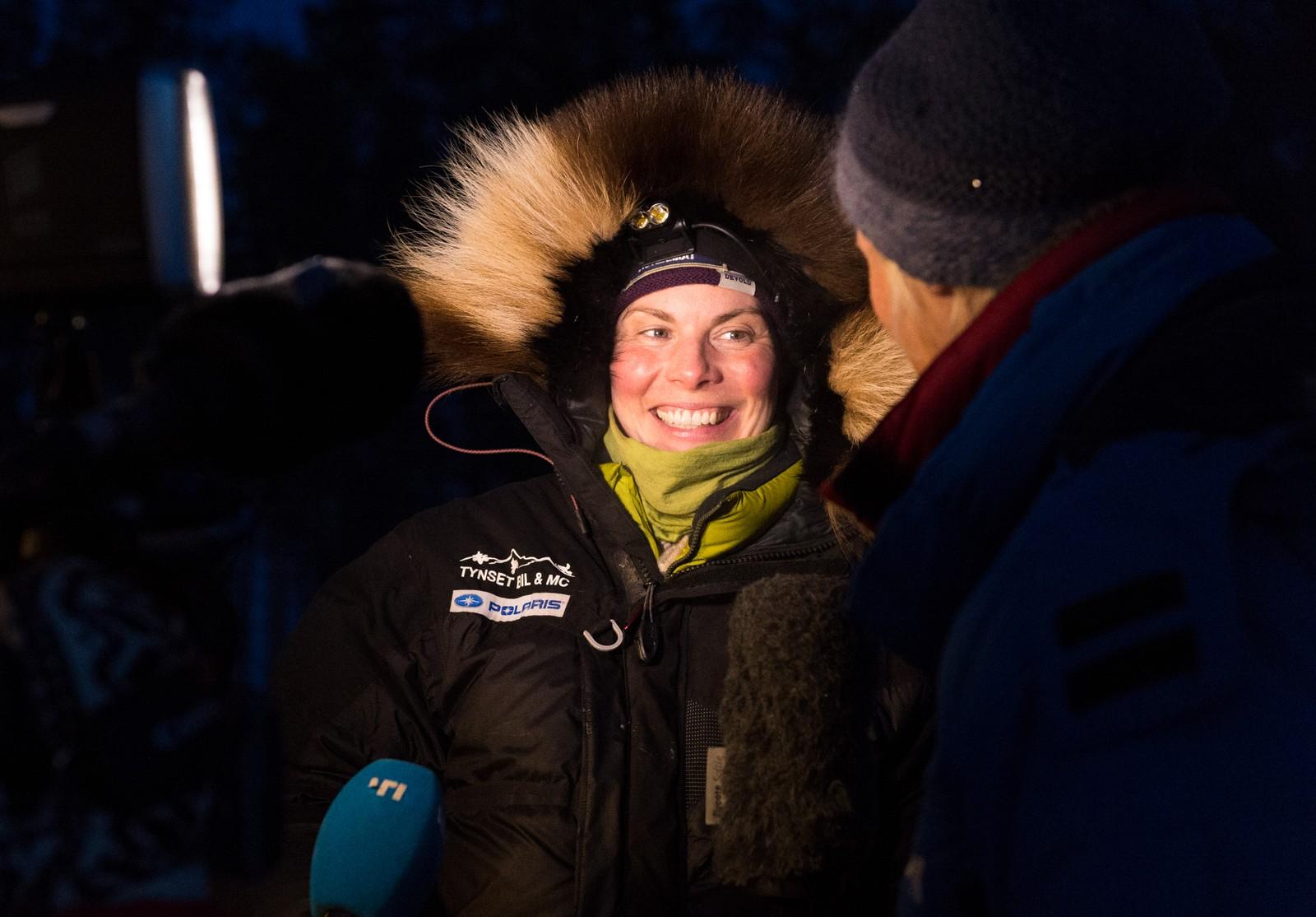 Sigrid Ekran var først inn til villmarksjekkpunktet, der bare NRKs utsendte forstyrret idyllen - en kort stund.