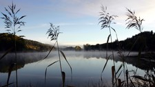 HØSTEN ER HER: Kald morgenstemning ved Bunnefjorden. Flere steder ble det natt til tirsdag målt kuldegrader på natten og morgenen.