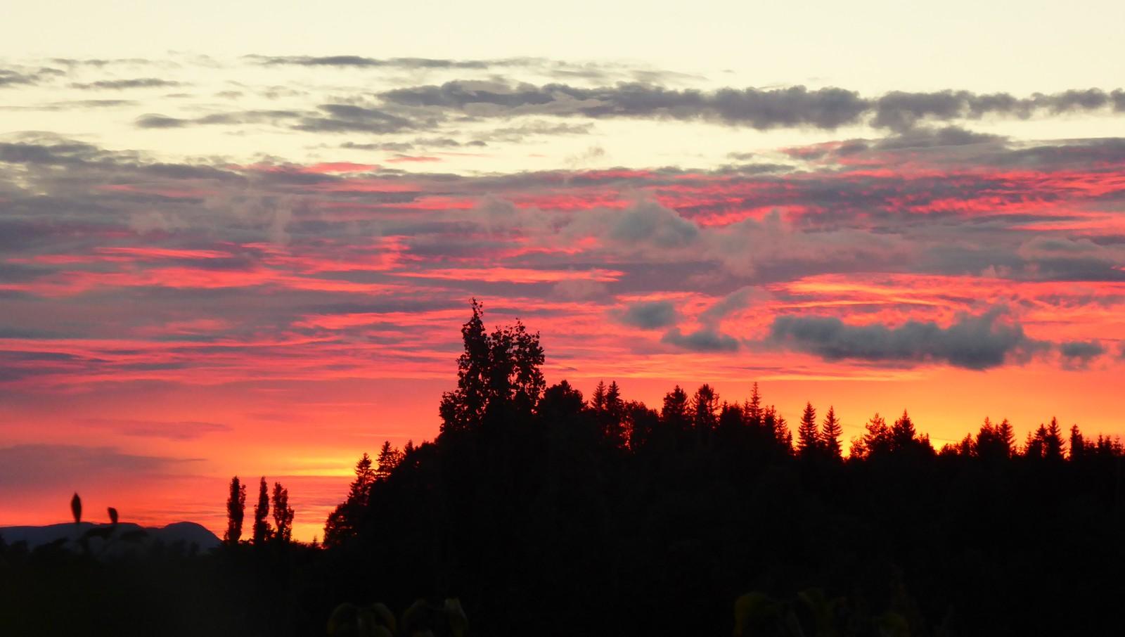 Solnedgang, Stjørdal