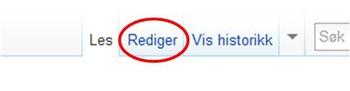 Wikipedia, rediger