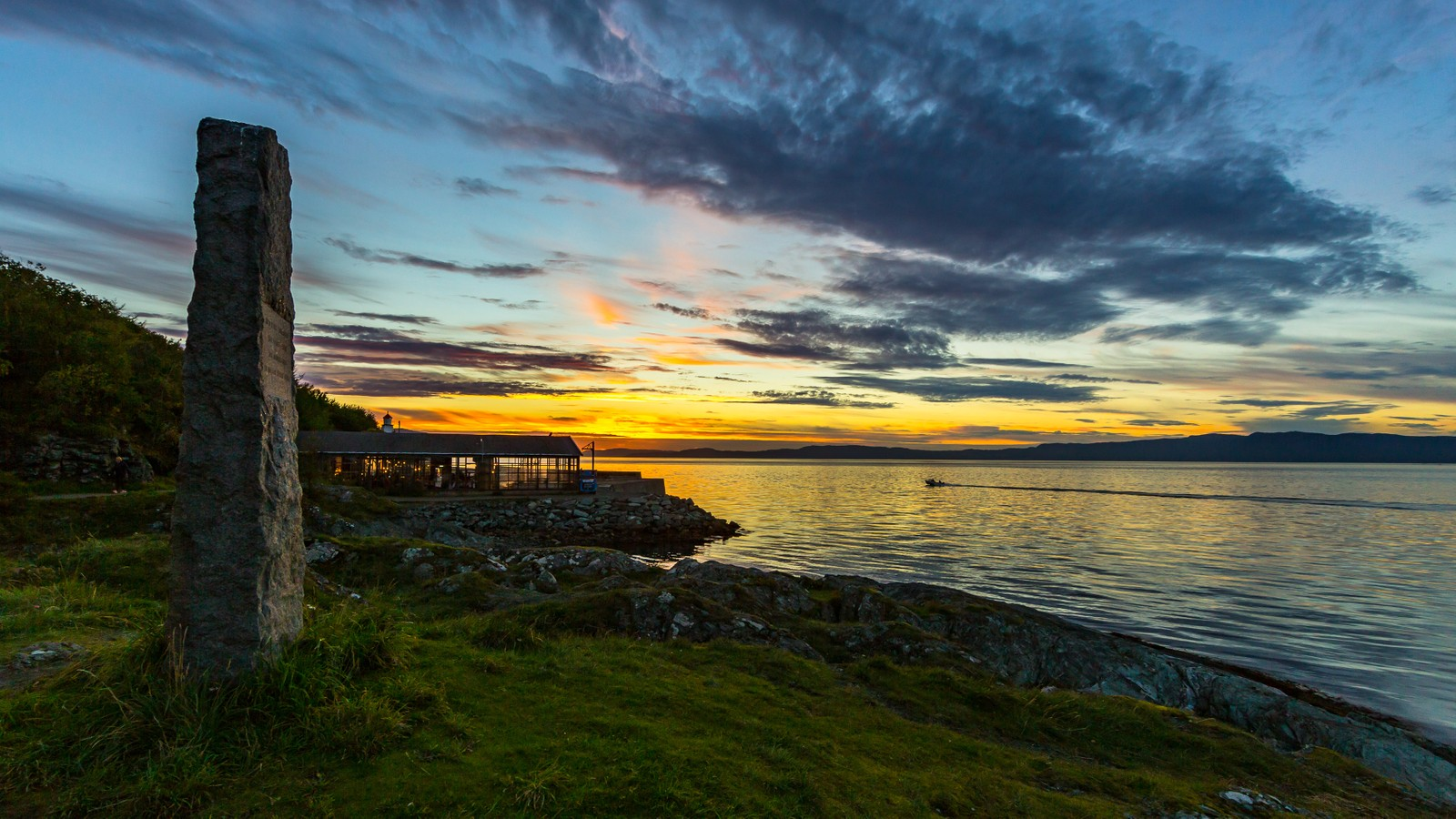 Solnedgang i Djupvika, Trondheim