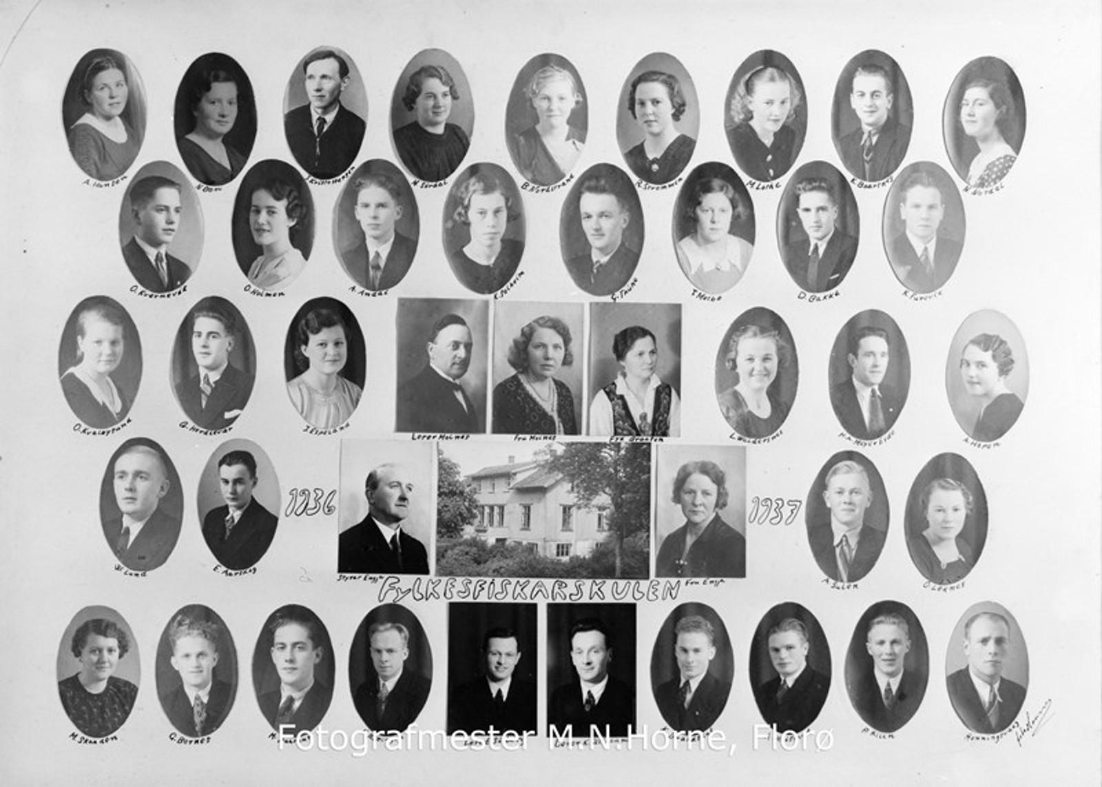 FISKARSKULEN: I året 1936-1937 var dette Fylkesfiskarskulen.