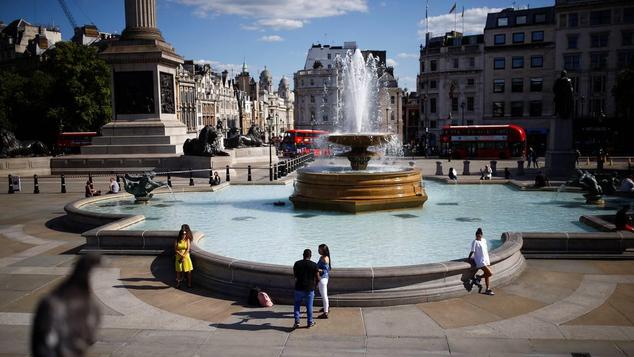 Trafalgar Square, 20. juli. Etter