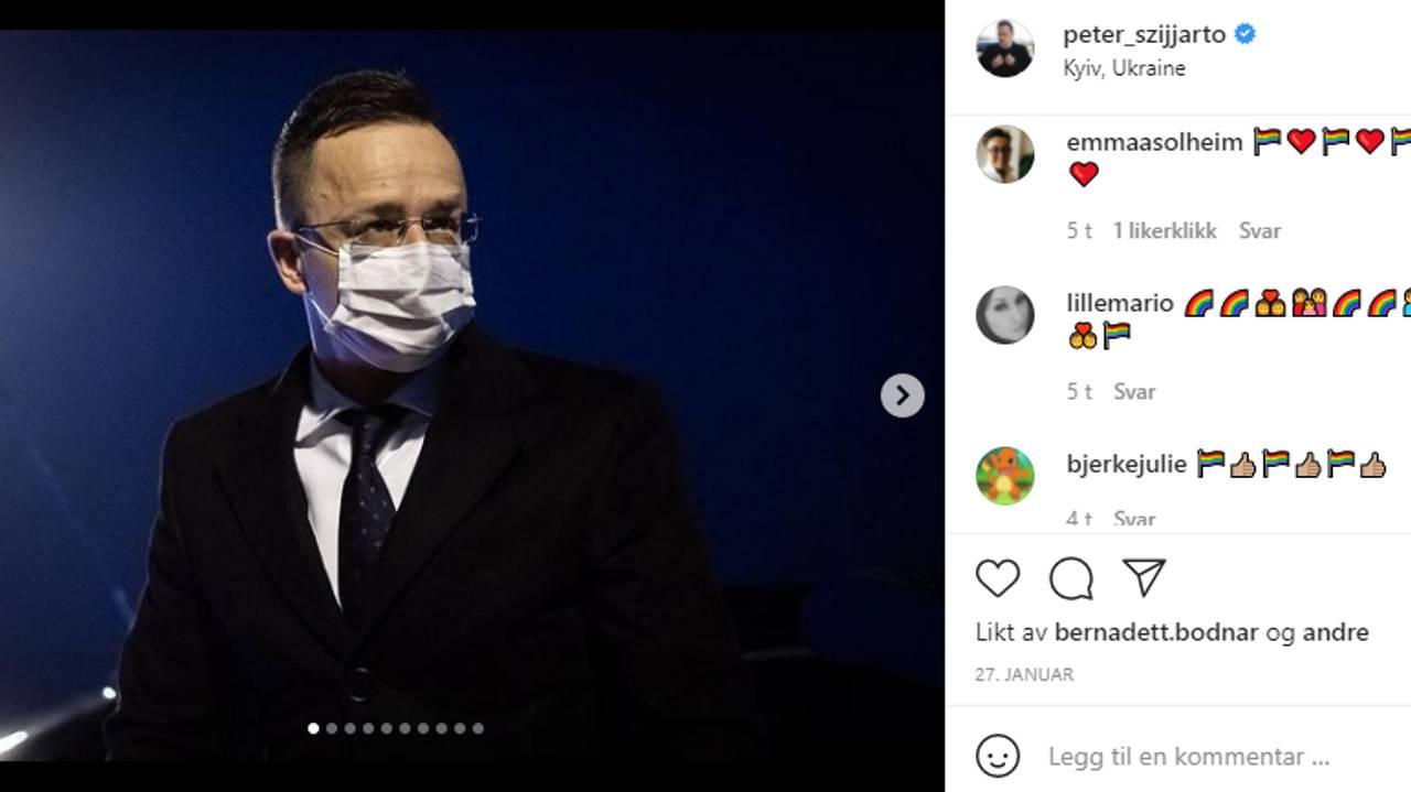 Peter Szijjarto instagram