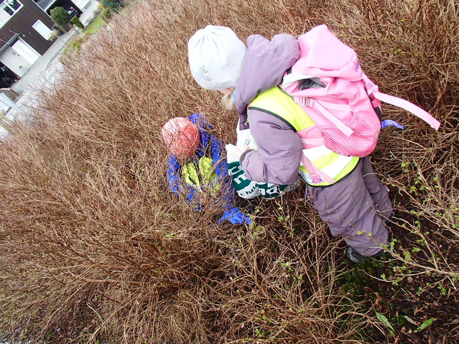 Eventyrberge barnehage, avdeling Ugletreet, har i dag vært ute og plukket søppel på Skadberg.