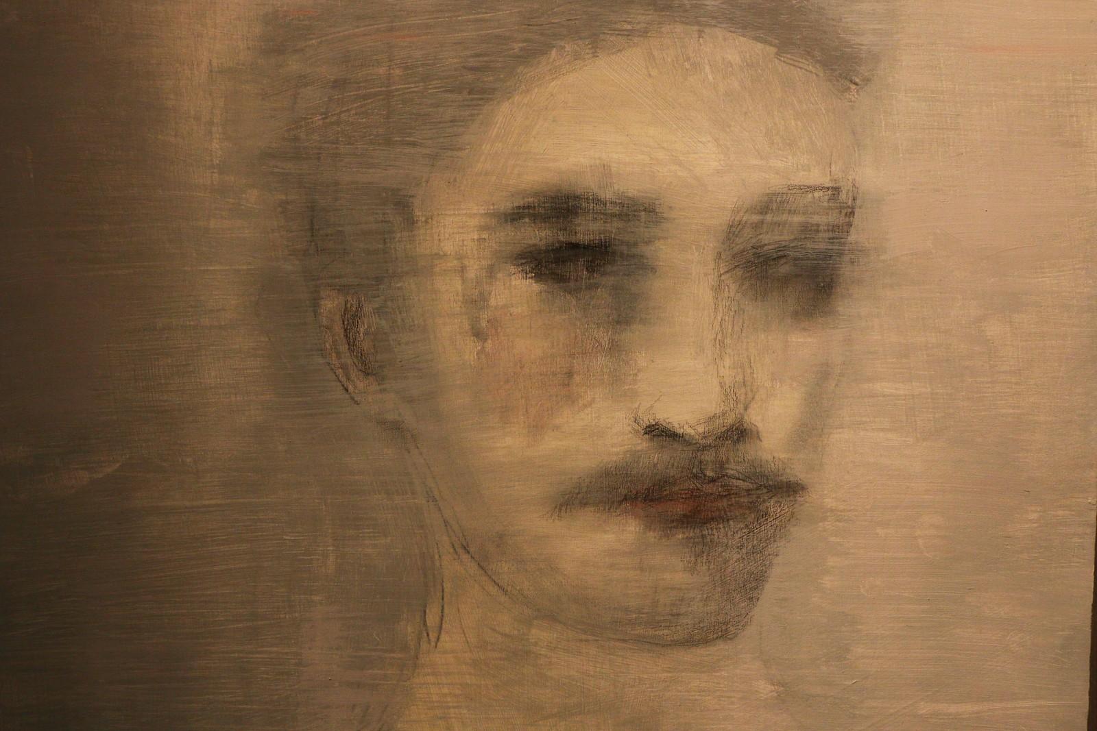 Jorunn Mulen. Den yngste kunstnaren som stiller ut. Tittelen er : A gentle reflection