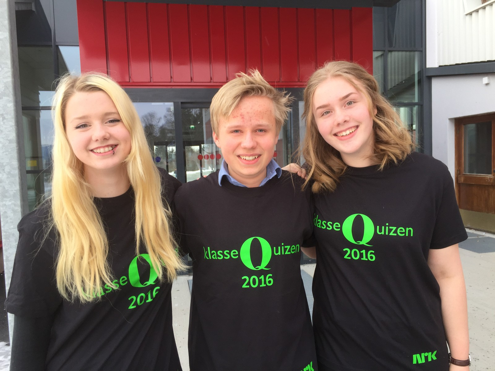 Det ble åtte poeng til William Seiner, Emilie Kristoffersen og Ingeborg Bratvold ved Jevnaker skole.