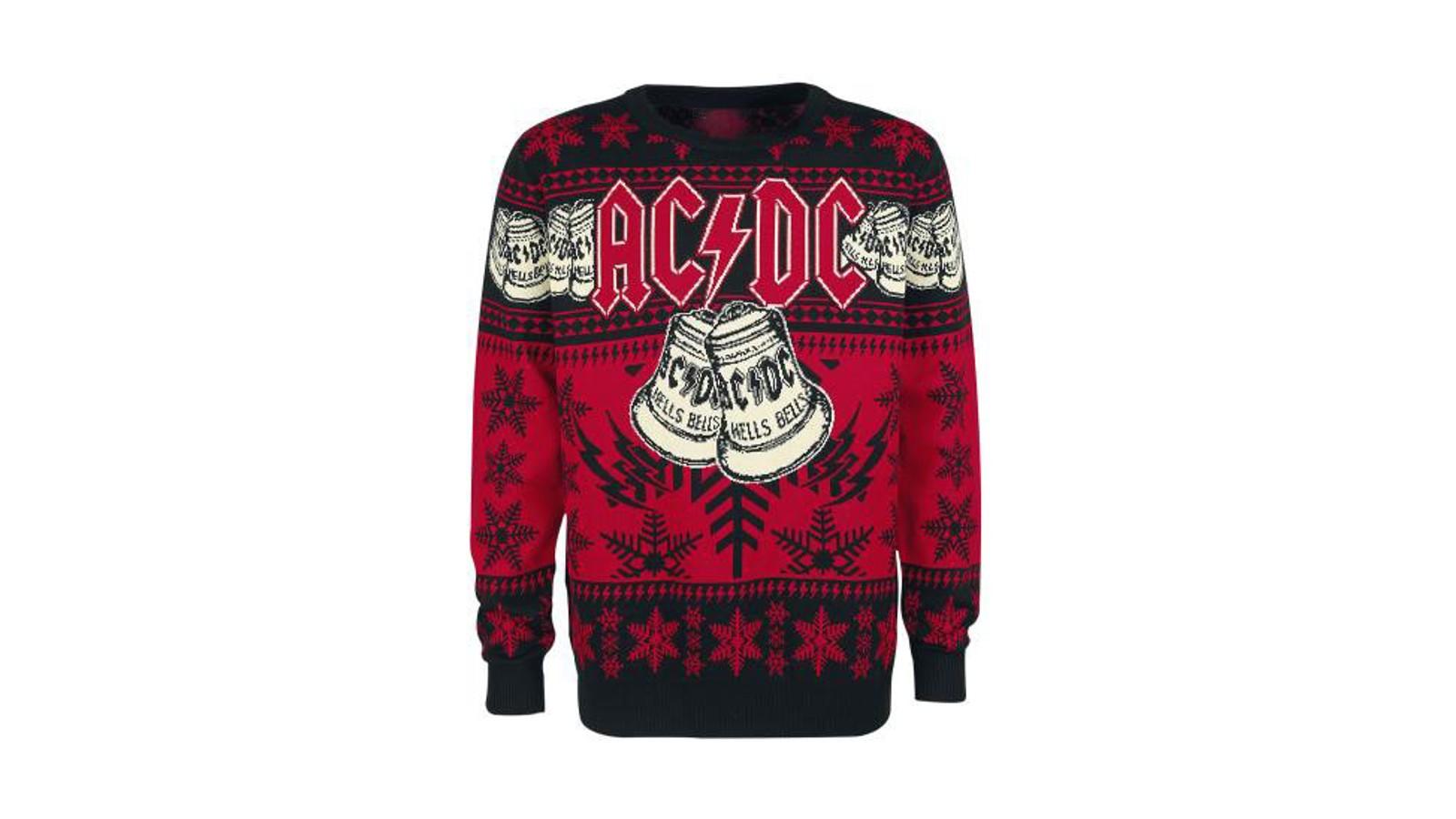 Jingle bells eller hells bells? Som AC/DC-fan velger du kanskje sistnevnte, og med denne genseren kan du vise det til alle og enhver.