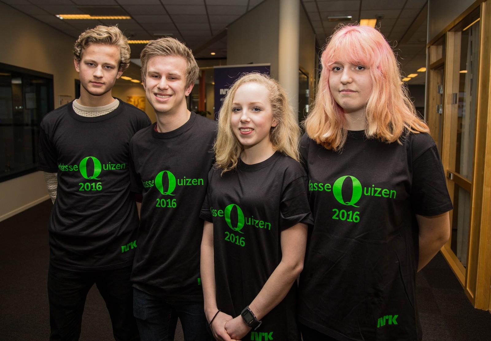 11 POENG: Høyland ungdomsskole med Marie Tøfte, Snorre Flesjå og Espen Kommedal Hop.