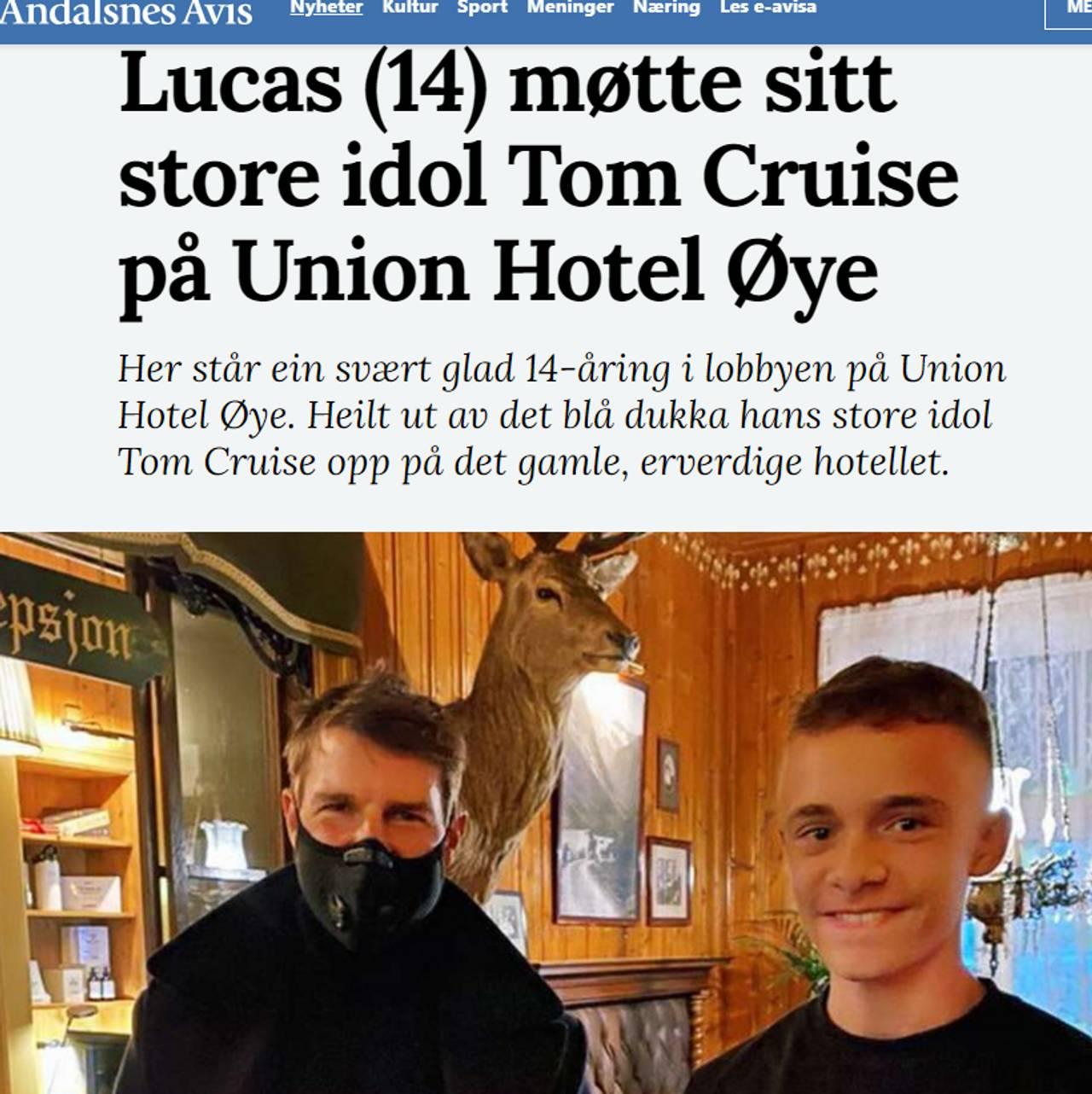 Lucas møtte Tom Cruise