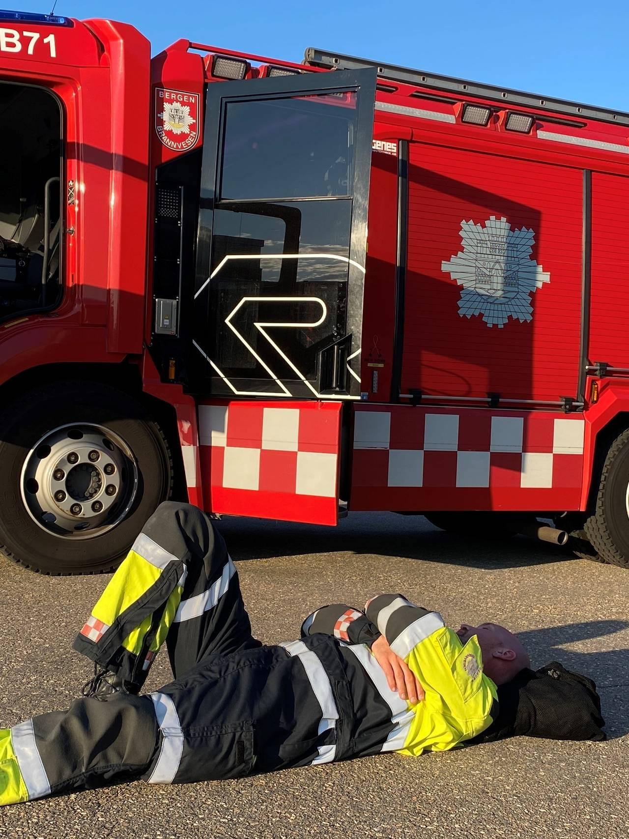 Utslitt brannmann på Sotra