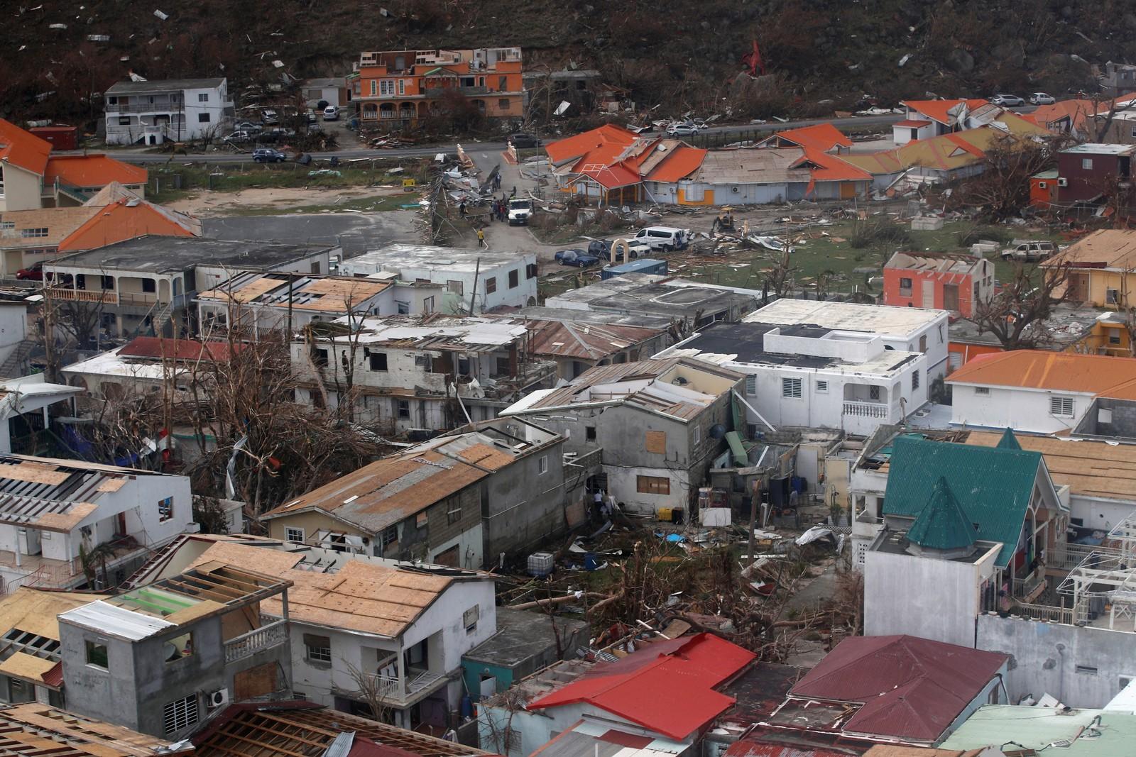 Store ødeleggelser i Karibia.