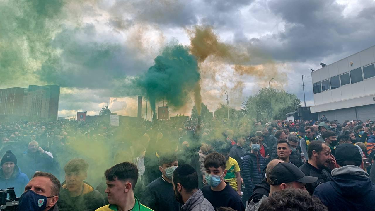 Protester i Manchester, 8