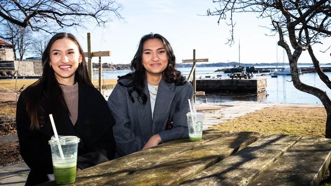 Søstrene Lavenia (t.v) og Gyda Strandberg.