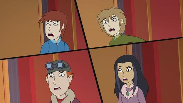 Sammen med kusinen Sara, er brødrene Kjell, Henrik og Endre beskyttere av de tapte hemmeligheter. Verdens skjebne ligger i deres hender. Australsk animasjon.
